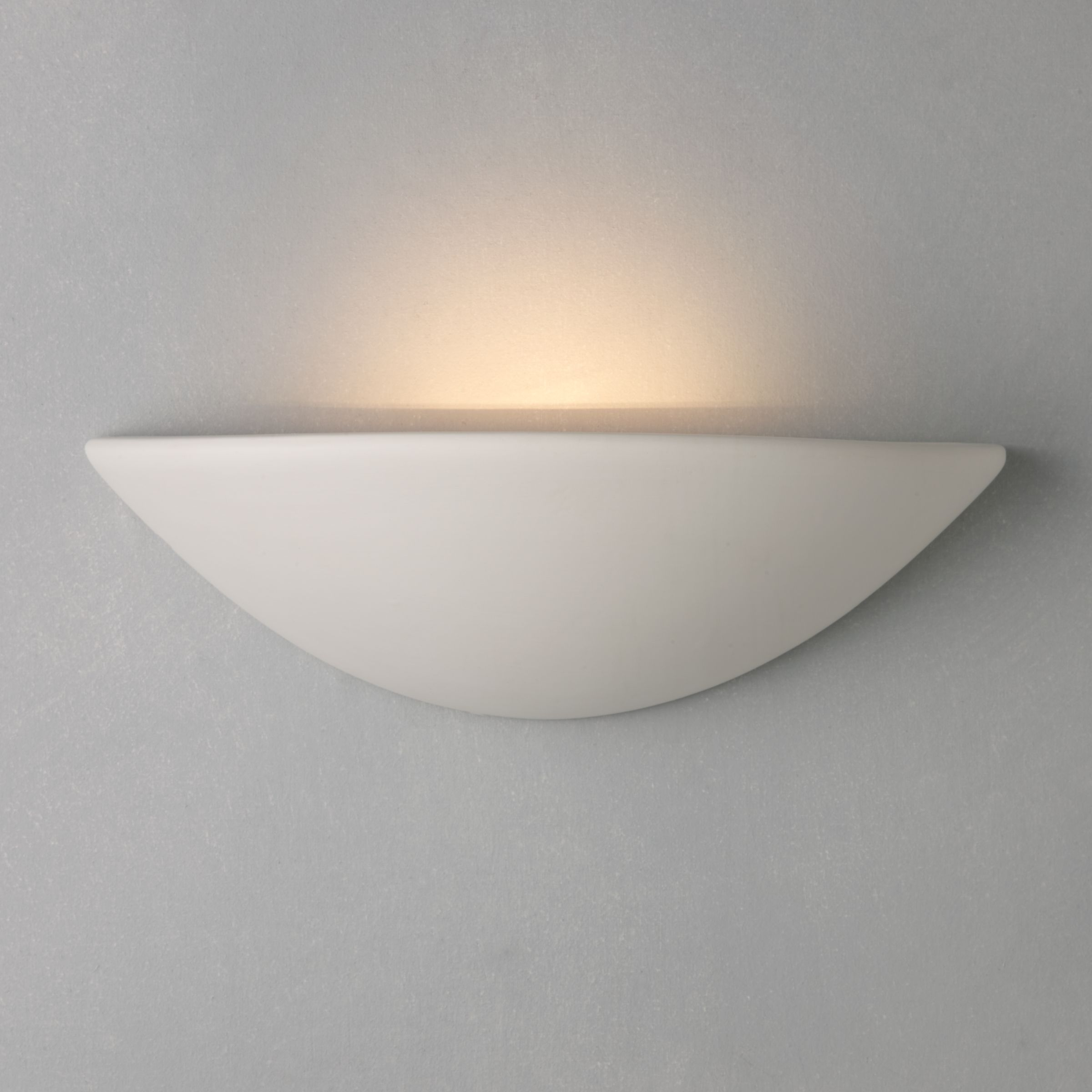 Wall Mounted Lamps John Lewis : Buy John Lewis Radius Uplighter Wall Light, White John Lewis