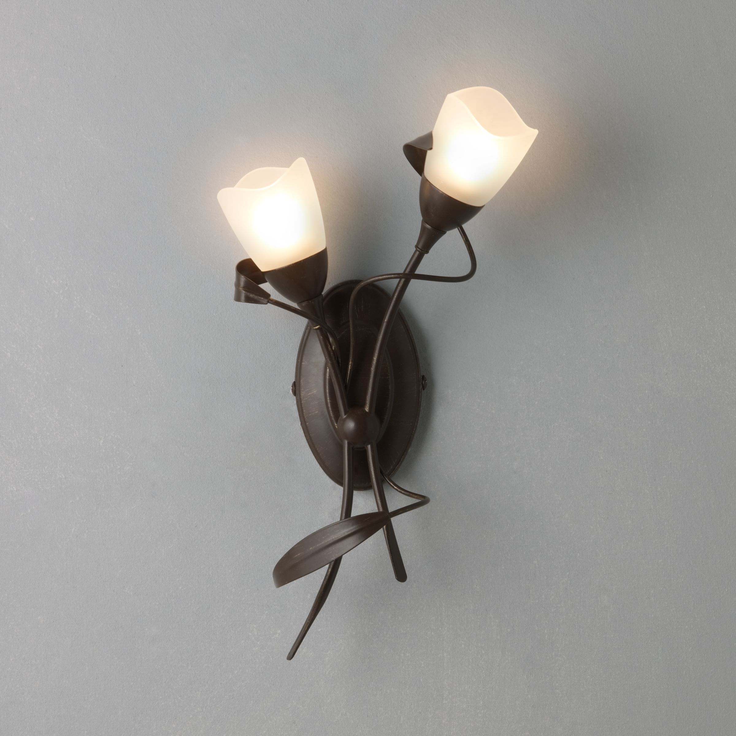John Lewis Wall Lights Glass : Buy John Lewis Yasmin Wall Light, 2 Arm John Lewis