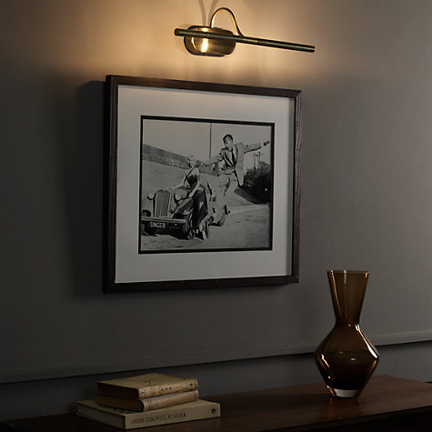Buy Litho Picture Light, Antique Brass Online at johnlewis.com