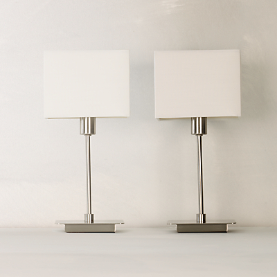 John Lewis The Basics Ruby Lamp Duo