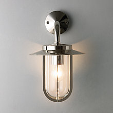 Buy ASTRO Montparnasse Outdoor Wall Light, Polished Nickel Online at johnlewis.com