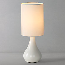 Buy John Lewis Kirsty Touch Lamp, White Online at johnlewis.com