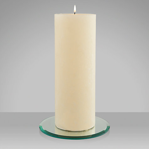 Buy John Lewis Rustic Round Pillar Candle Online at johnlewis.com