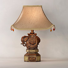 Buy John Lewis Elephant Table Lamp and Shade Online at johnlewis.com
