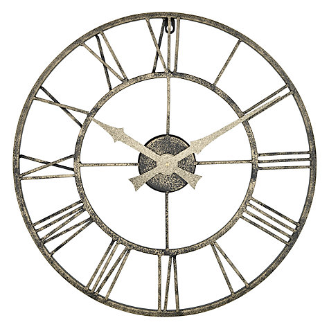 Buy Lascelles Outdoor Clock Dia 50cm Metallic John Lewis