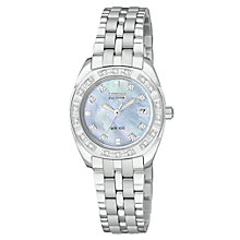 Buy Citizen Eco-Drive EW1590-56Y Women's  Paladion Diamond Set Bracelet Watch Online at johnlewis.com