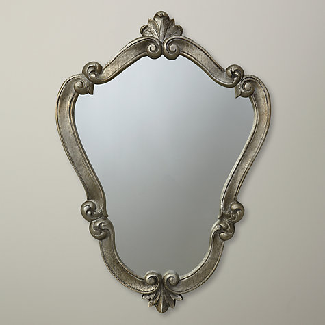 Buy John Lewis Belle Mirror, Silver, H60 x W45cm Online at johnlewis.com
