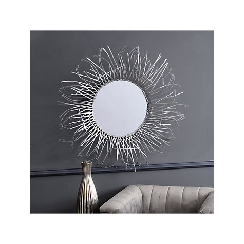 Buy John Lewis Seaweed Round Mirror, Dia.110cm Online at johnlewis.com