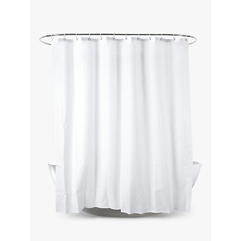 Buy John Lewis Slub Shower Curtain, White, Extra Long Online at johnlewis.com