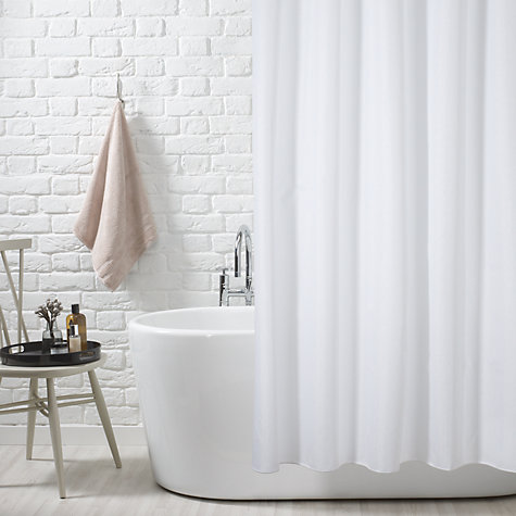 Buy John Lewis Slub Shower Curtain White Extra Long John Lewis
