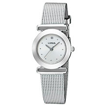 Buy Lorus RRS53RX9 Women's Round Dial Stainless Steel Mesh Strap Watch Online at johnlewis.com