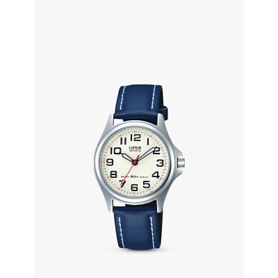 Lorus RRS55VX9 Children's Round Dial Blue Canvas Strap Watch