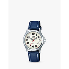 Buy Lorus RRS55VX9 Children's Round Dial Blue Canvas Strap Watch Online at johnlewis.com