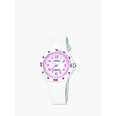 Buy Lorus Girls' Rubber Strap Watch Online at johnlewis.com