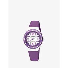 Buy Lorus R2335DX9 Girl's Rubber Strap Watch Online at johnlewis.com