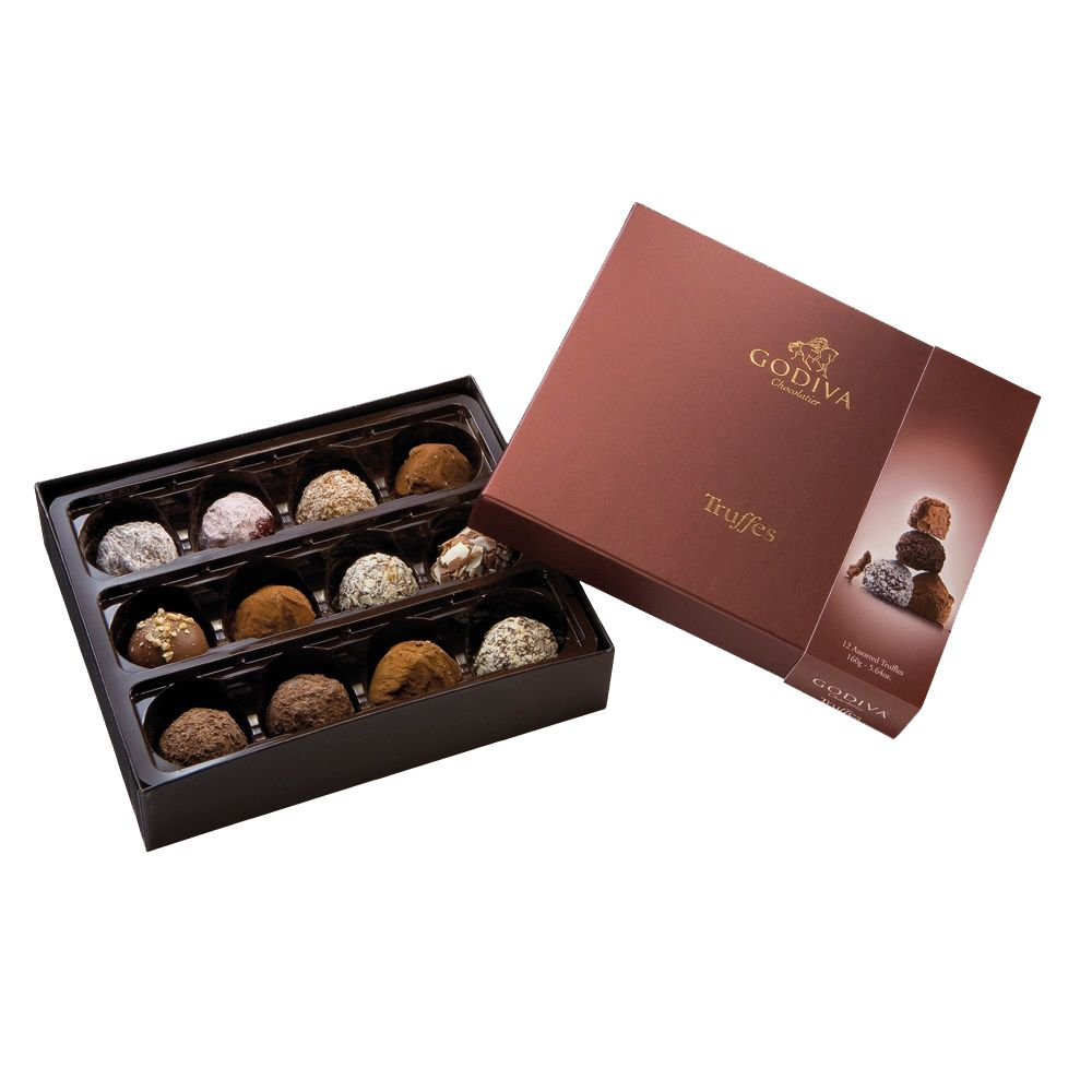 Godiva Truffle Collection, 12 Pieces, 165g