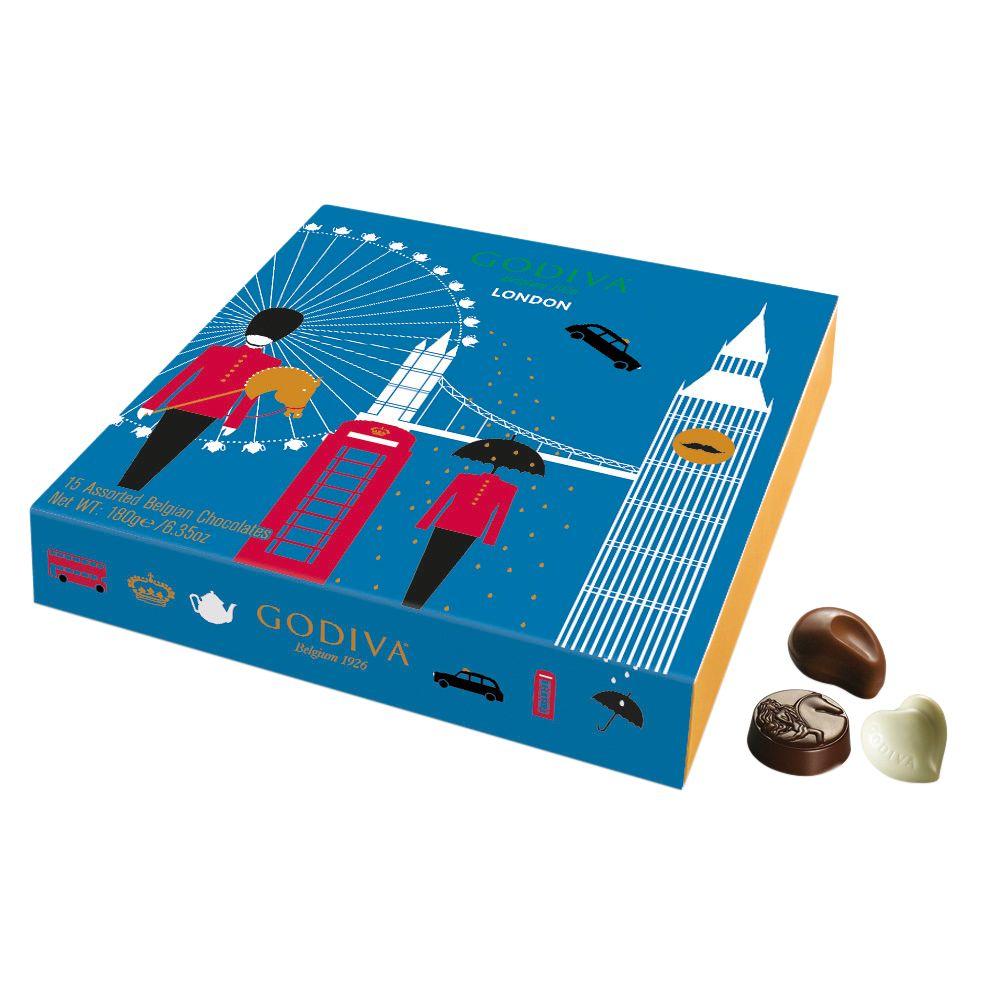Godiva Godiva London Souvenir Chocolate Selection, 180g