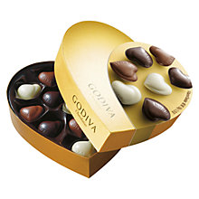 Buy Godiva Assorted Chocolates Heart Ballotin, 150g Online at johnlewis.com