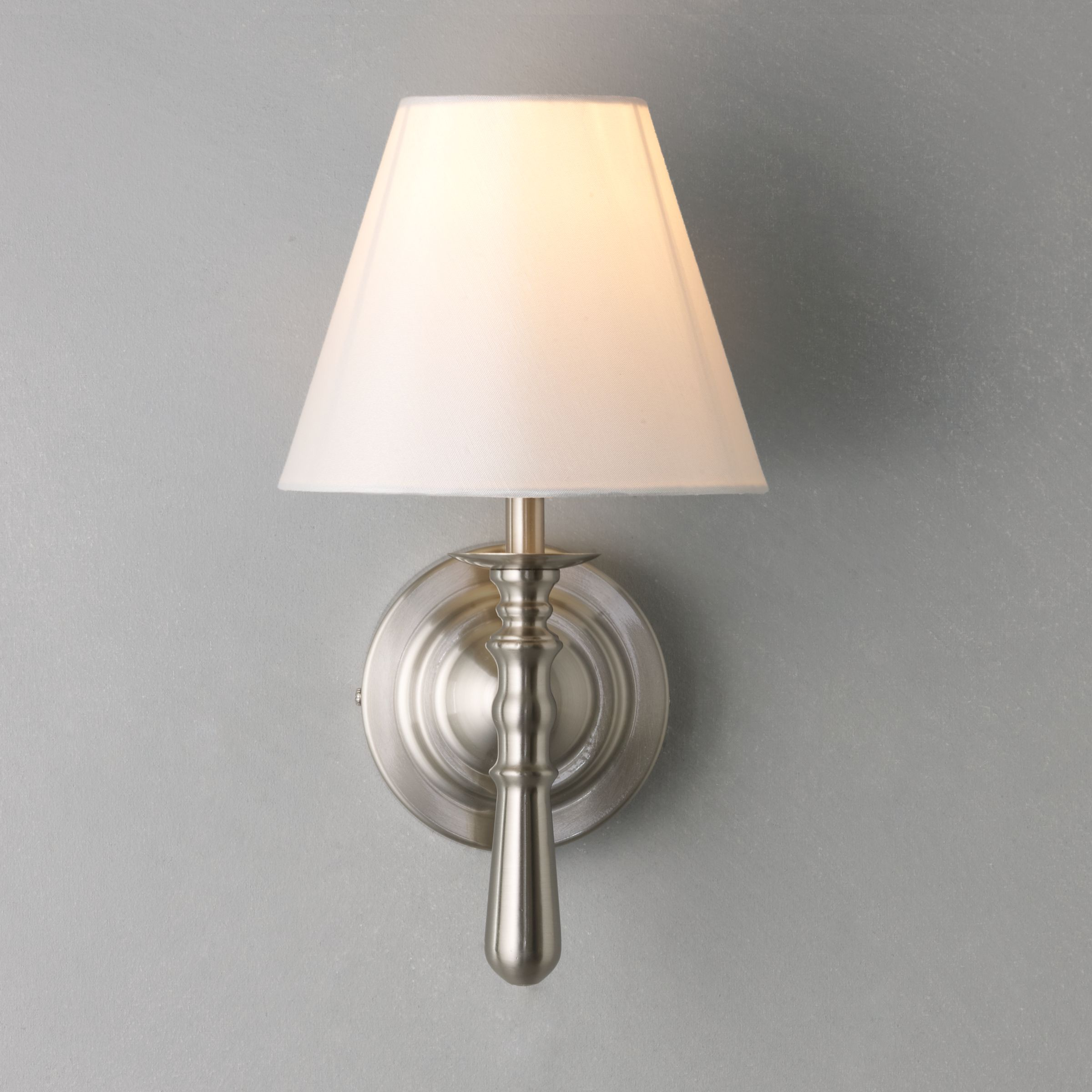 Buy John Lewis Sloane Wall Light, Satin Nickel John Lewis