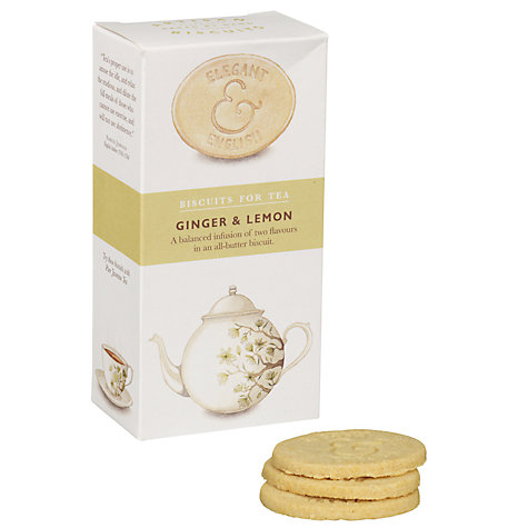 Buy Elegant English Biscuits for Tea, Ginger & Lemon, 125g Online at johnlewis.com