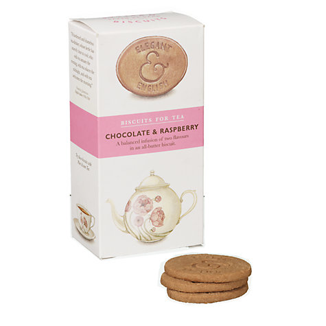 Buy Elegant English Biscuits for Tea, Chocolate & Raspberry, 125g Online at johnlewis.com