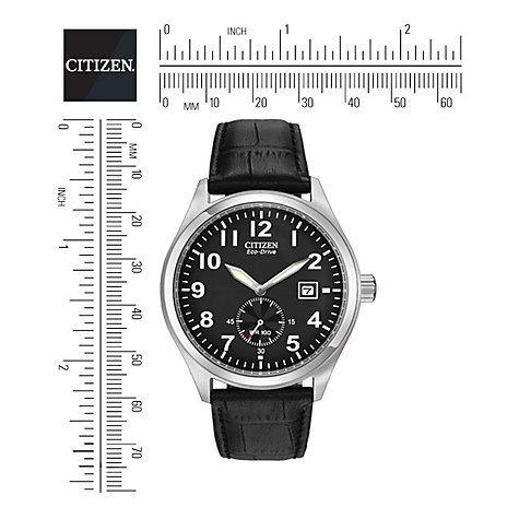 Buy Citizen Eco-Drive BV1060-07E Men's Black Dial Leather Strap Watch Online at johnlewis.com