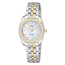 Buy Citizen Eco-Drive EW1594-55D Women's Paladion Mother of Pearl Dial Bracelet Watch Online at johnlewis.com