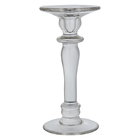 Buy Glass Pillar Candle Holder, Small Online at johnlewis.com