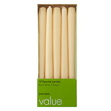 Buy John Lewis The Basics Dinner Candles, Pack of 10 Online at johnlewis.com