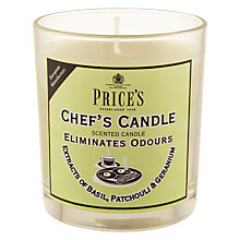 Buy Price's Chef's Candle in Jar, 'Fresh Air' Online at johnlewis.com