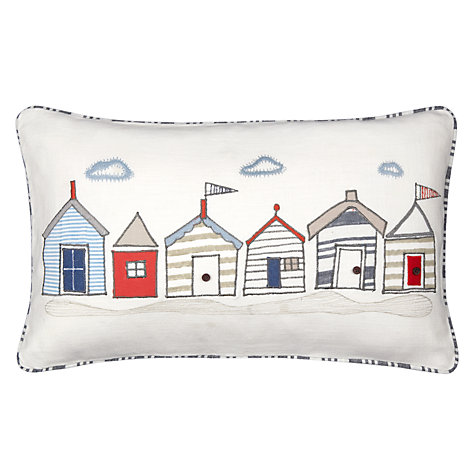 Buy John Lewis Beach Huts Cushion, Multi Online at johnlewis.com