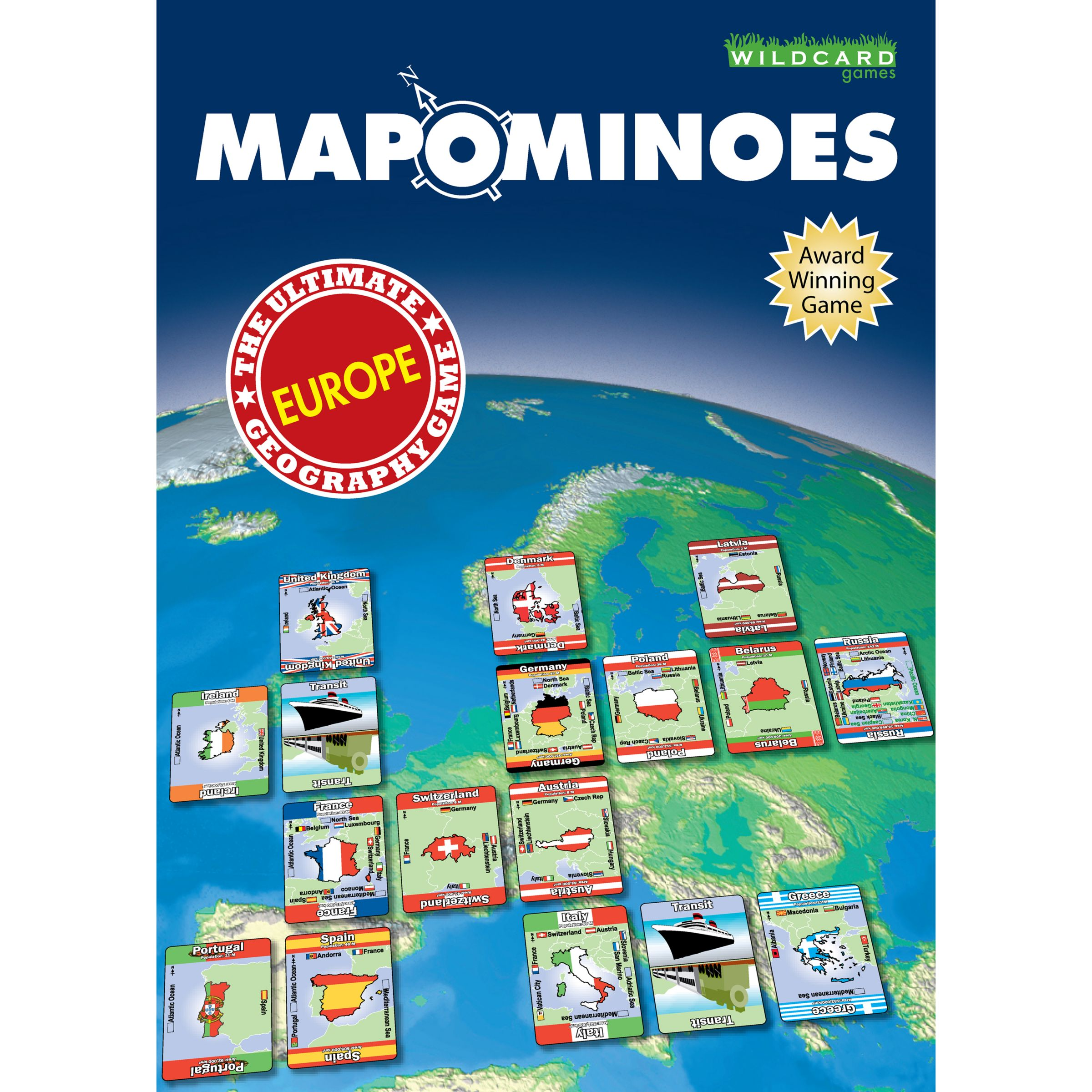 Wild Card Games Wild Card Games Mapominoes Europe Dominoes Card Game