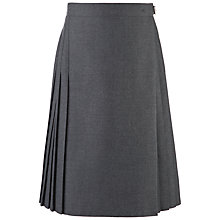 Buy Girls' School Knee Length Pleated Kilt, Grey Online at johnlewis.com