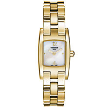 Buy Tissot T0421093311700 Women's Rectangular Dial Gold Bracelet Watch Online at johnlewis.com