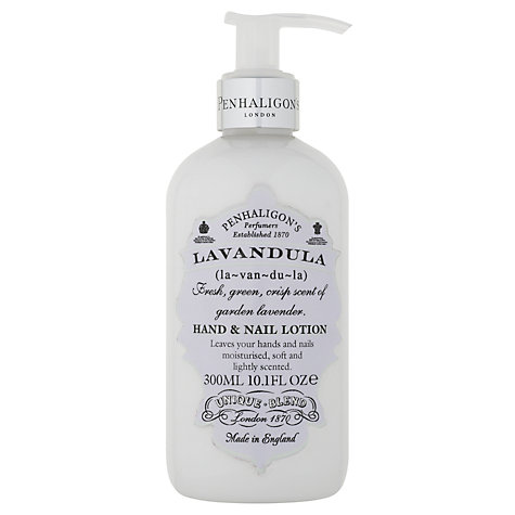 Buy Penhaligon's Lavandula Hand & Nail Lotion, 300ml Online at johnlewis.com