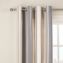 Buy John Lewis Finlay Stripe Lined Eyelet Curtains Online at johnlewis.com