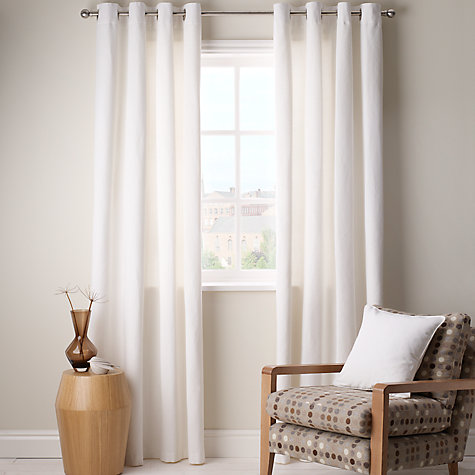 Buy John Lewis Cotton Rib Eyelet Curtains Online at johnlewis.com