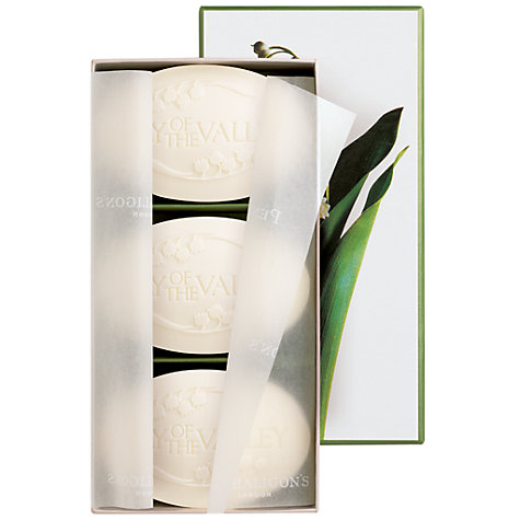 Buy Penhaligon's Lily of the Valley Soap: Box of 3 x 100g Online at johnlewis.com