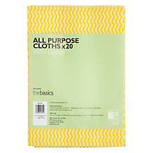 Buy John Lewis The Basics Premium, All Purpose Cloths, Pack of 20 Online at johnlewis.com