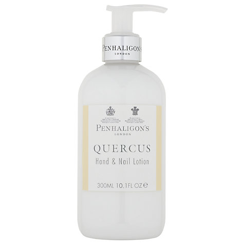 Buy Penhaligon's Quercus Hand & Nail Cream, 300ml Online at johnlewis.com