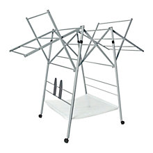 Buy Addis Deluxe Folding Airer, White Online at johnlewis.com
