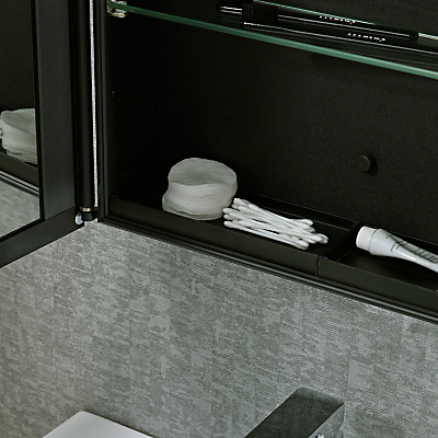 Roper Rhodes Limit Slimline Single Bathroom Cabinet with Double-Sided Mirror