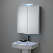 Buy John Lewis Pinnacle Double Mirrored Bathroom Cabinet Online at johnlewis.com