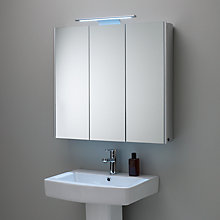 Buy John Lewis Absolute Triple Mirrored Bathroom Cabinet Online at johnlewis.com