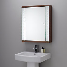 Buy John Lewis Instinct Integrated LED Single Mirrored Bathroom Cabinet Online at johnlewis.com