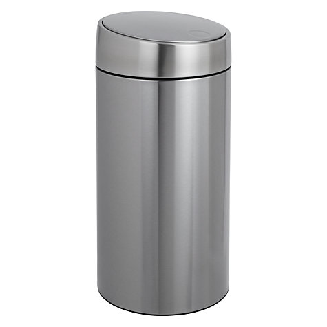 Buy Brabantia Slide Bin De Luxe, Fingerprint Proof Matt Stainless Steel, 45L Online at johnlewis.com