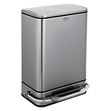 Buy simplehuman Rectangular Steel Bar Pedal Bin, 38L Online at johnlewis.com