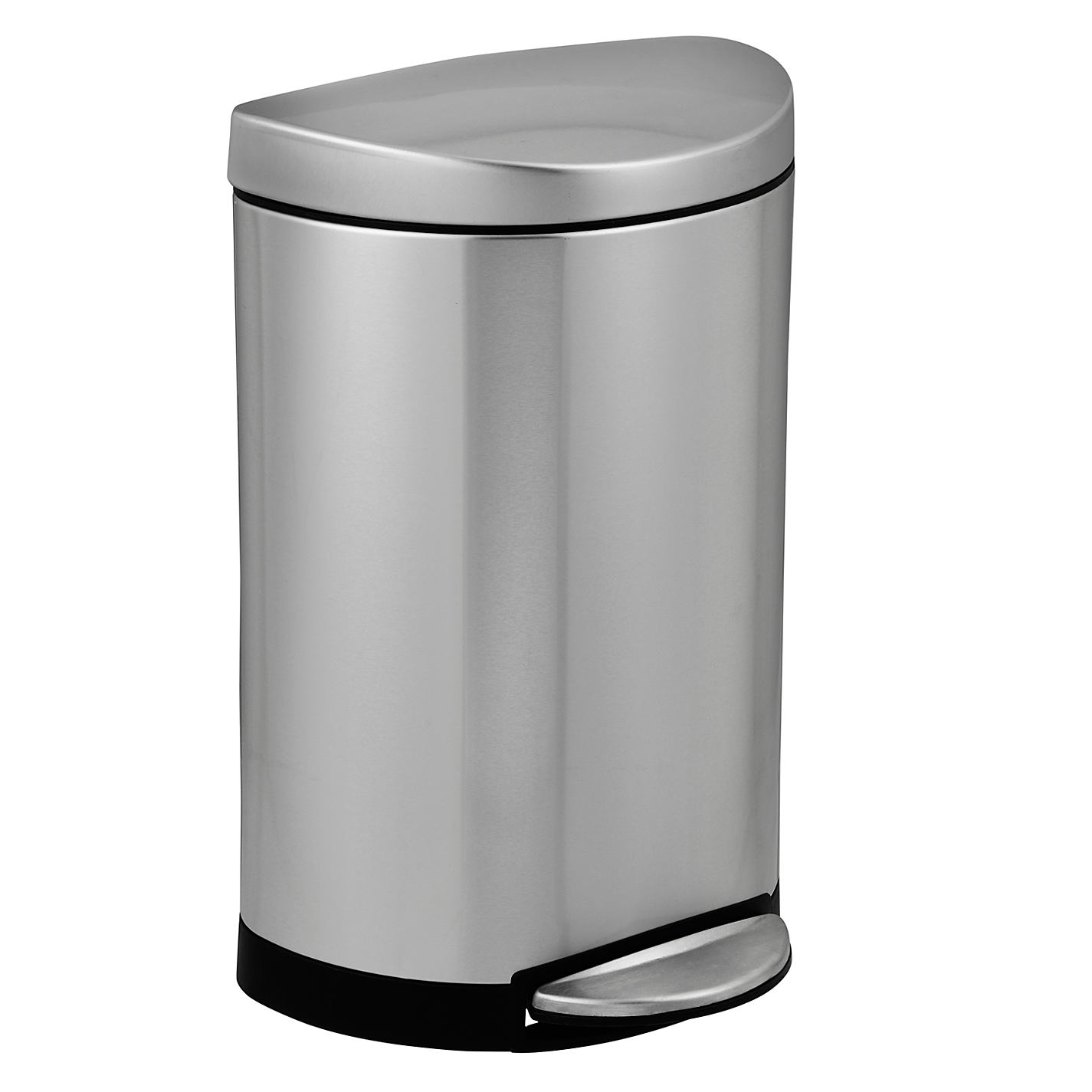 Buy simplehuman Semi Round Pedal Bin  Brushed Stainless Steel  10L Online at johnlewis. Buy simplehuman Semi Round Pedal Bin  Brushed Stainless Steel  10L