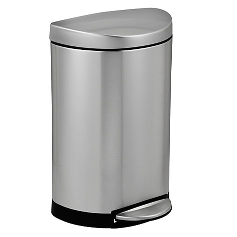 Buy simplehuman Deluxe Semi-Round Pedal Bin, Brushed Stainless Steel, 10L Online at johnlewis.com