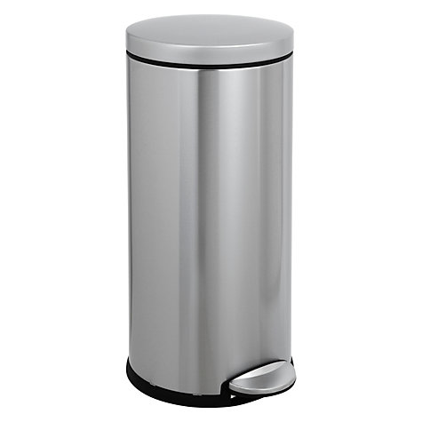 Buy simplehuman Round Pedal Bin, Brushed Stainless Steel, 30L Online at johnlewis.com